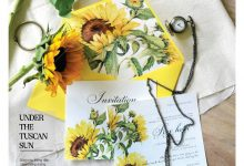 Mẫu thiệp cưới hoa hướng dương – Sunflower