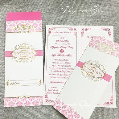 Thiệp cưới Pinky