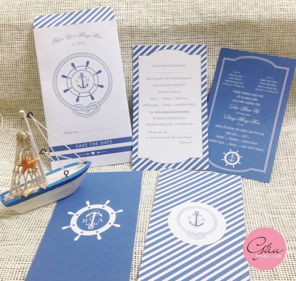 Thiệp cưới Ocean0