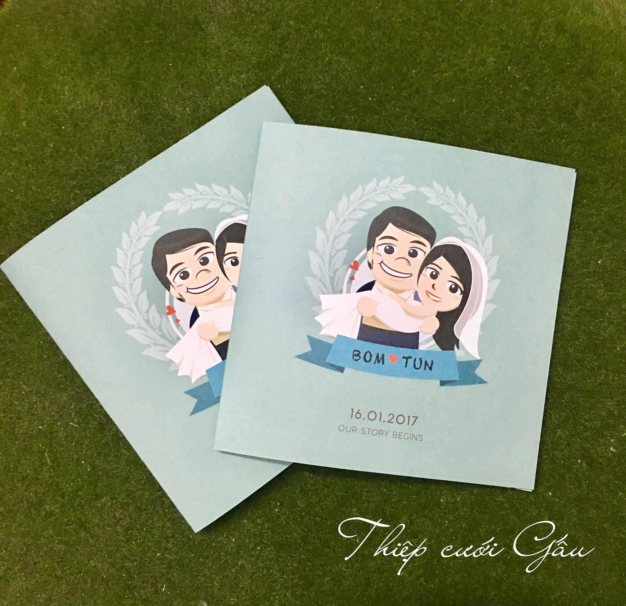 Thiệp cưới Chibi S0