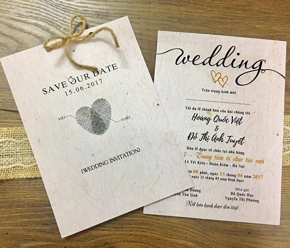 Thiệp cưới Save Our Date0