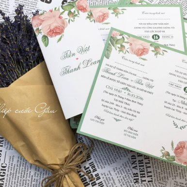 Thiệp cưới Green Rose