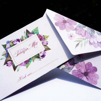 Thiệp cưới Henie
