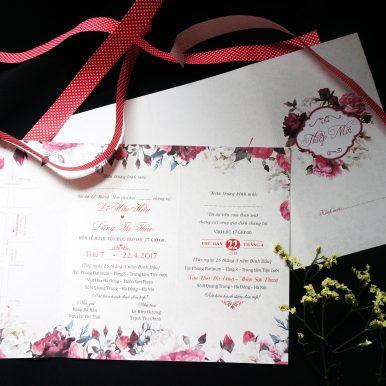 Thiệp cưới Mẫu đơn vương 3