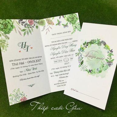 Thiệp cưới Rainforest