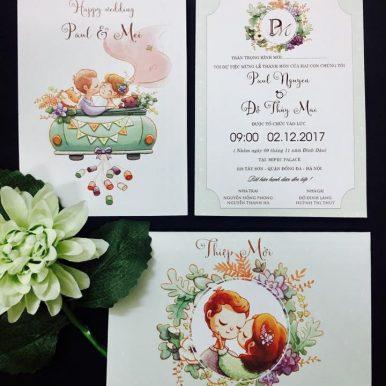 Thiệp cưới Ara