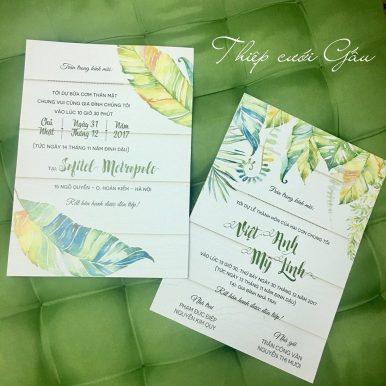 Thiệp cưới Greenary