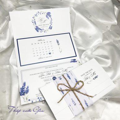 Thiệp cưới Lavender