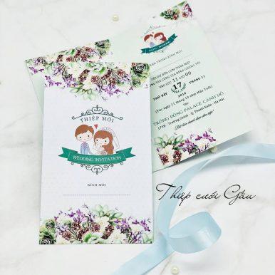 Thiệp cưới chibi