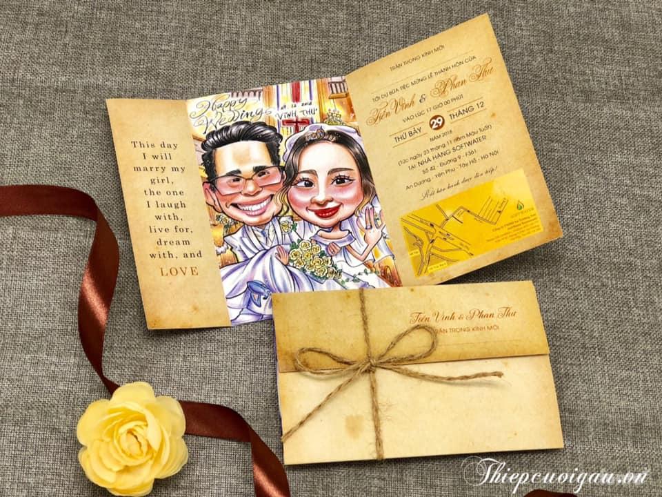 Thiệp cưới công cụ thông báo tin mừng hiệu quả