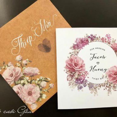 Thiệp cưới Song ngư