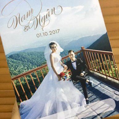 Thiệp cưới in ảnh