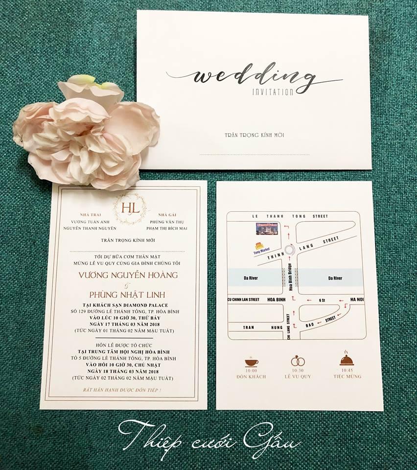 Thiệp cưới thiết kế0