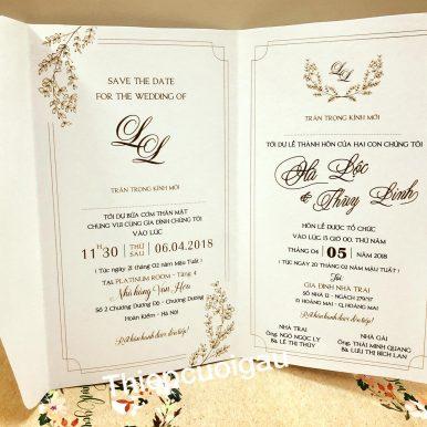 Thiệp cưới thiết kế
