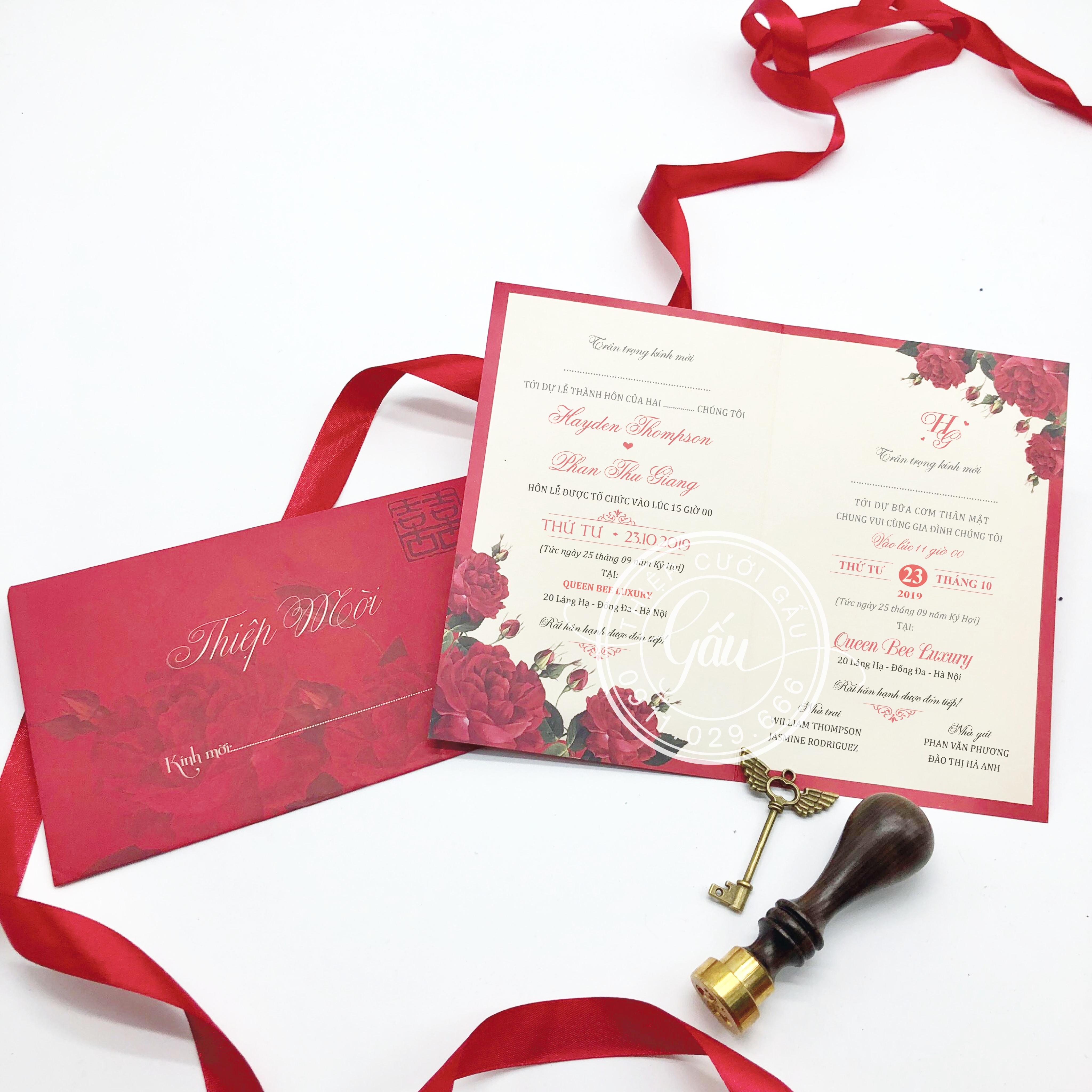 Thiệp cưới B132