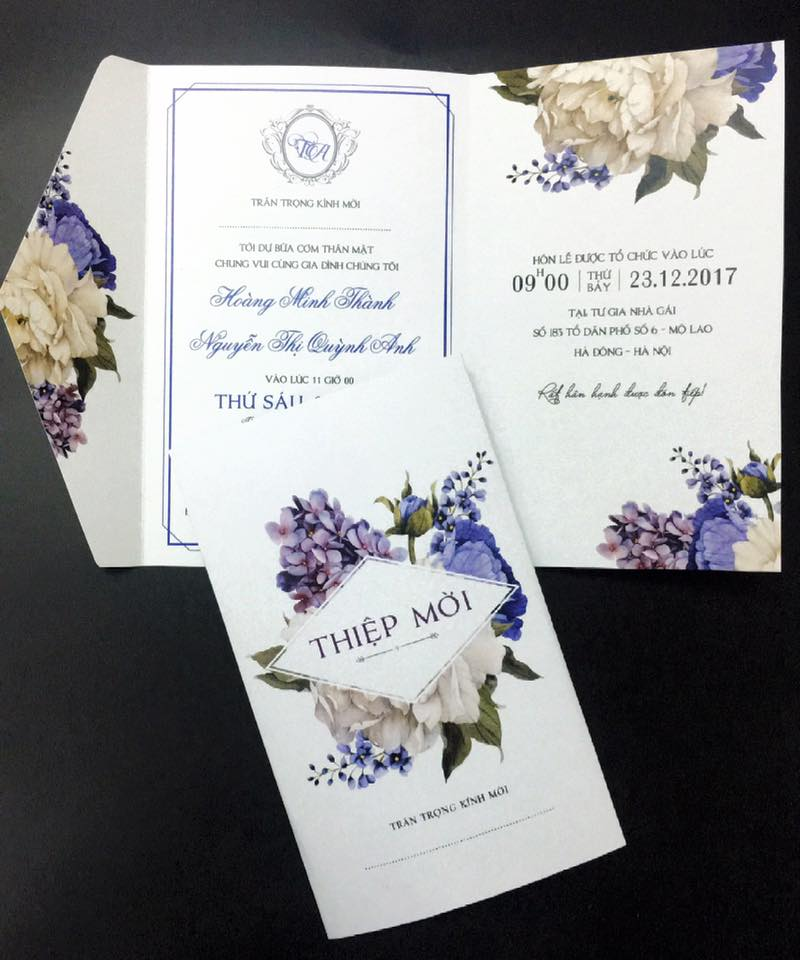 Thiệp cưới Peony xanh0