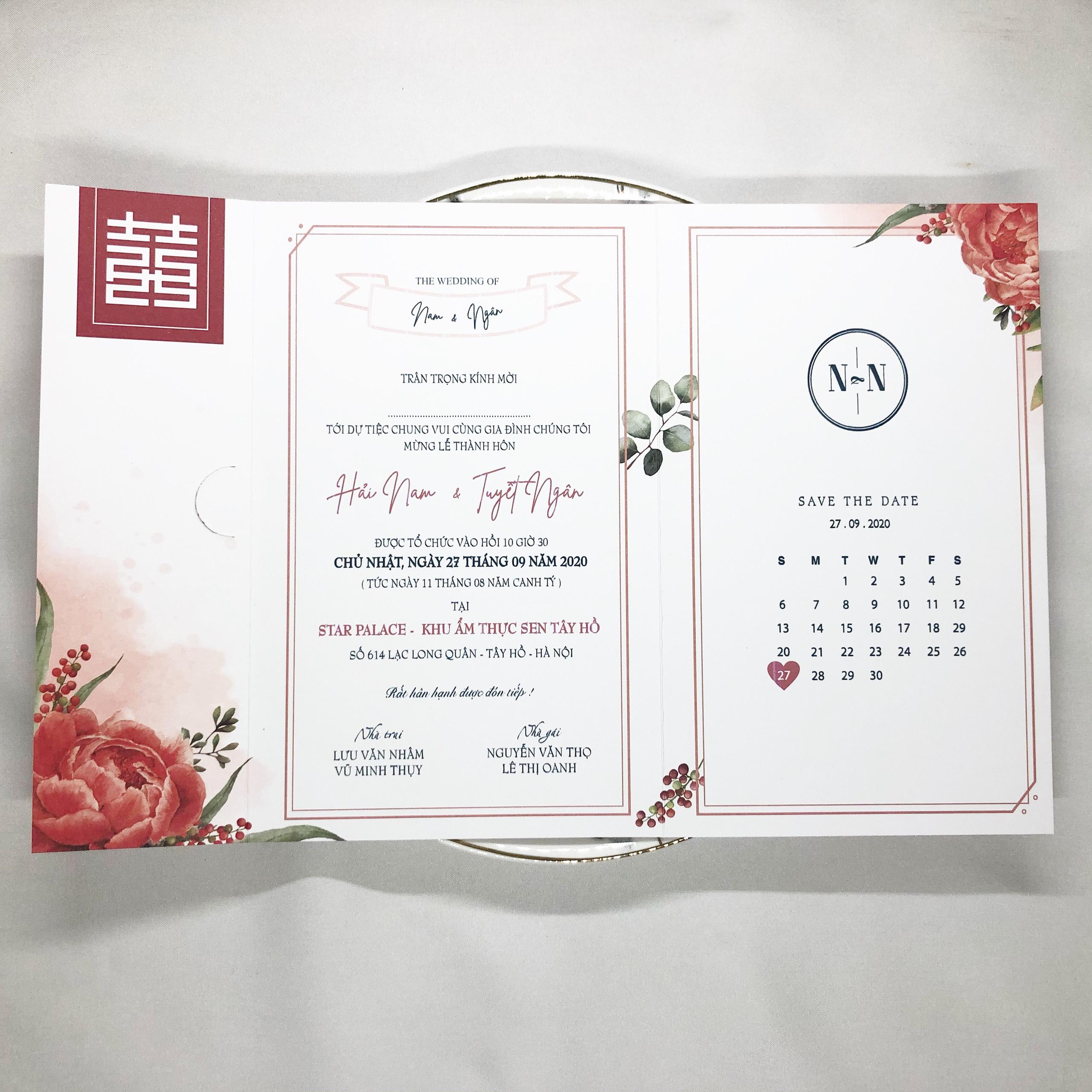 Thiệp cưới B092