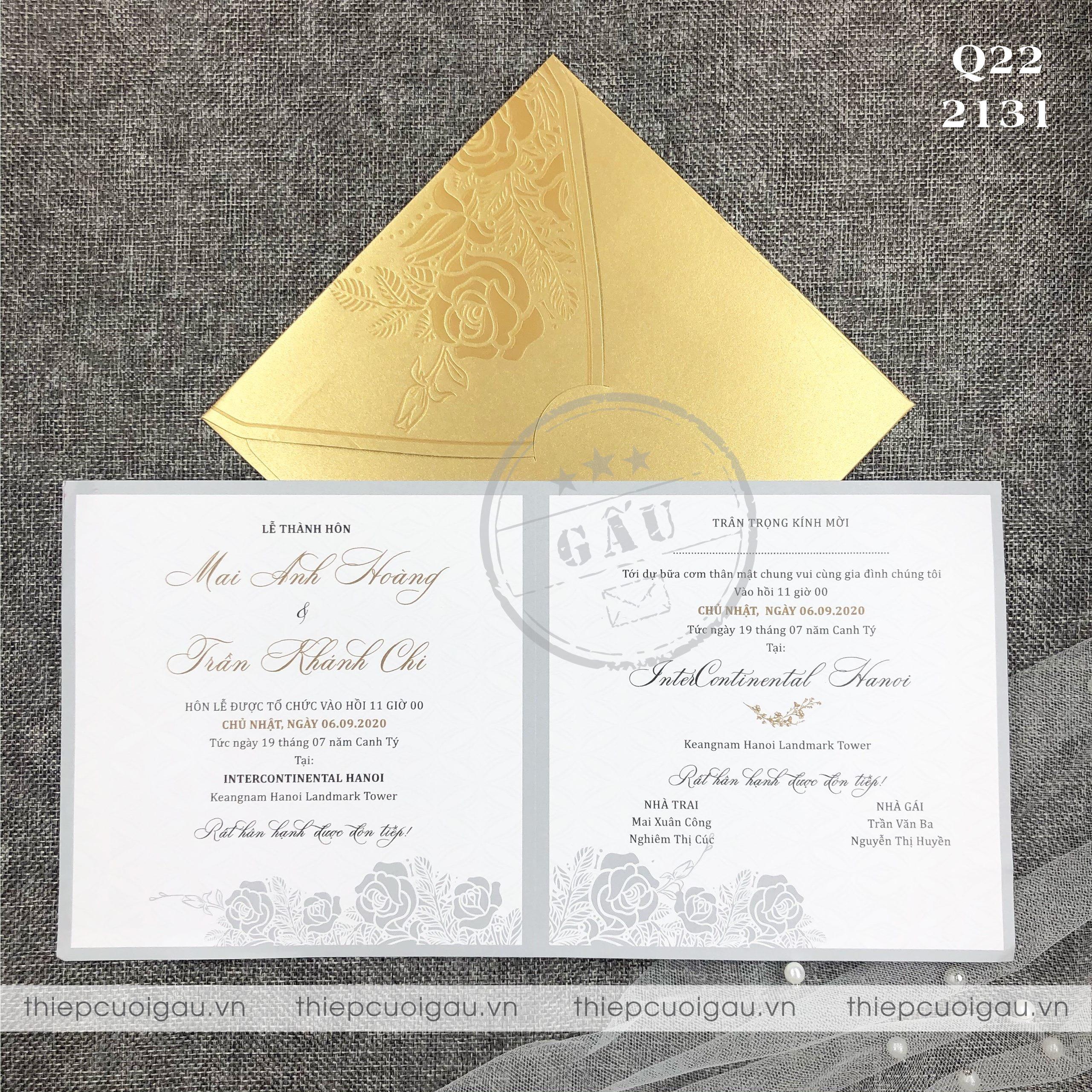 Thiệp cưới Q220