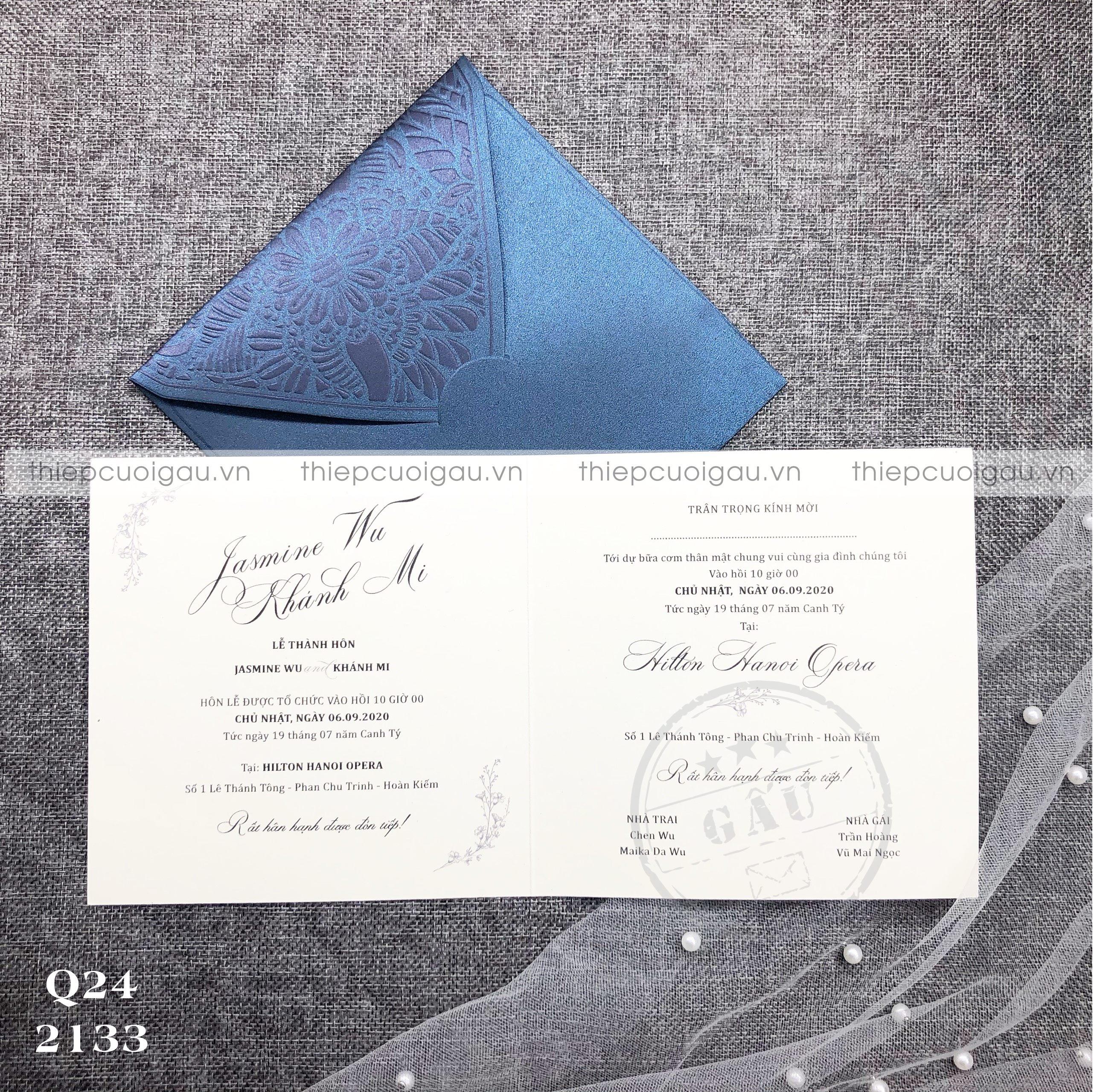 Thiệp cưới Q240