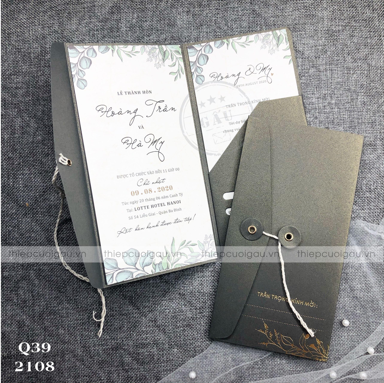 Thiệp cưới Q390