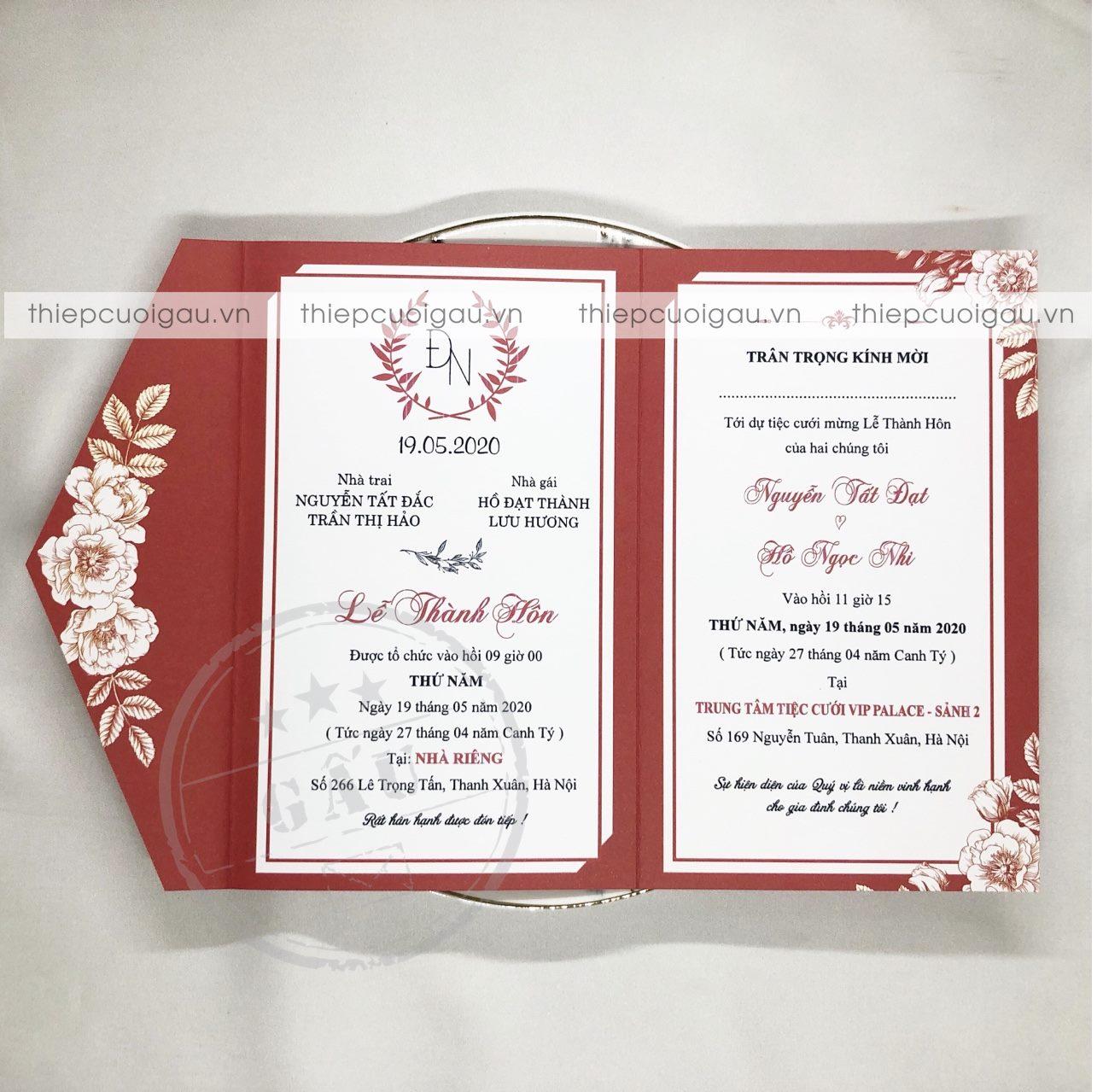 Thiệp cưới B072